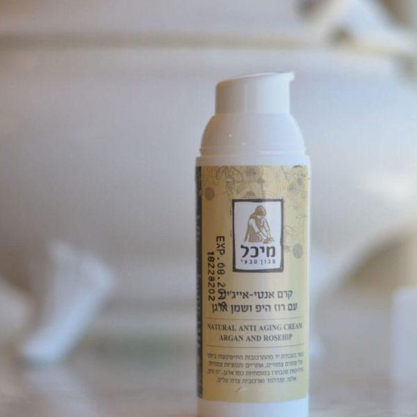 קרם האנטי-אייג'ינג של מיכל סבון טבעי