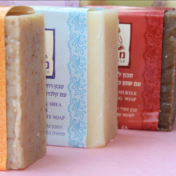 סבון רחצה טבעי מאזן בוץ ים המלח