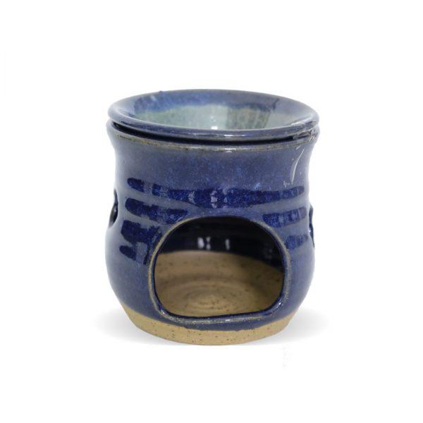 מבער עבודת יד עם גלזורה - כחול